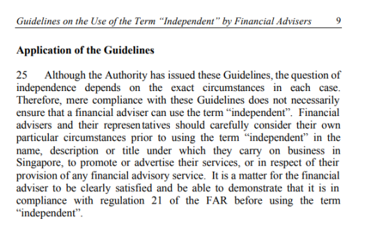 Guidelines conclusion independent