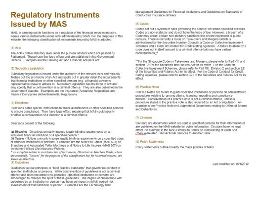 MAS instruments
