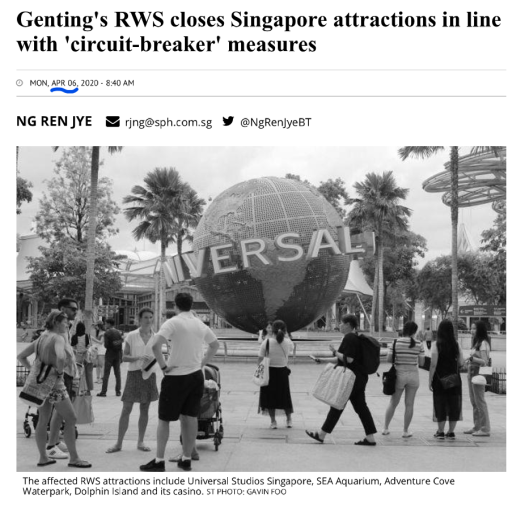 Snippet of Genting SP article